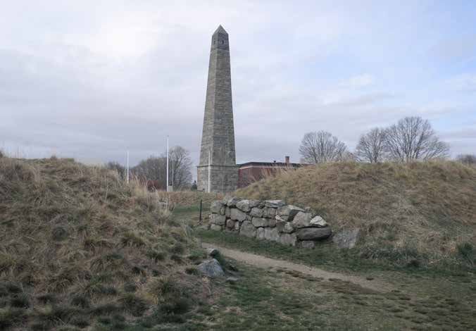 Fort Griswold with the Groton Monument. The Revolutionary War fort is one of the four anchor sites in the Thames River Heritage Park.