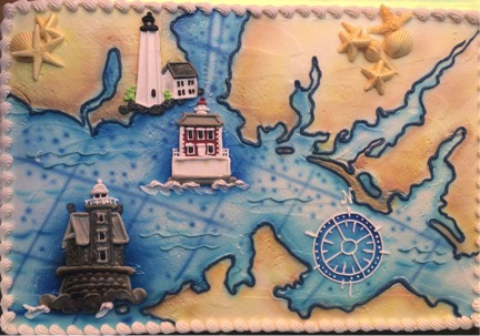 The New London Maritime Association celebrated its newest lighthouse acquisition this month with many events--and a great cake!