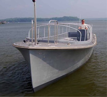 This is your basic Willard utility boat--roomy, efficient, and coming to the Thames River next year!