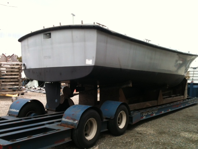 Boat arrival at Crockers -1